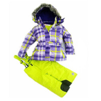 Fashion children winter ski suit for girl winter temperature -30  wholesale and retail with free shipping
