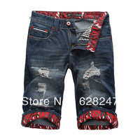 2013 New arrival fashion short men's jeans brand jeans