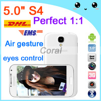 Perfect 3G Smart phone i9500 S4 5 inch 9500 5'' Android 4.2 MTK6589 Quad Core 1.2GHz 1GB RAM Dual Camera Wifi GPS Free gift