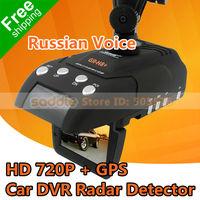 100% Original Conqueror GR-H8+ Radar Detector with Car DVR Camera HD 720P + GPS + G-sensor + Russian Language