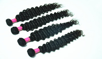 Unprocessed Virgin Russian Hair deep Wave 3 Bundles/Lot natural Wave Mixed Lengths, DHL Free Shipping