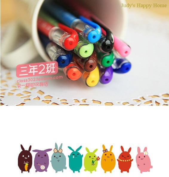 Free Shipping! School Office 12 Colors Ink DIY Sweet Cut Dot Series 0.5mm Kawaii Gel Write Pen Creative Stationery Novelty Gift(China (Mainland))