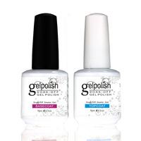Shellac Gelishgel Foundation & Topcoat Set UV LED Soakoff UV GEl Polish Nail Art 15ml