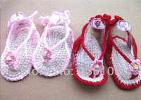 HOT sale! 2014 NEW Baby Crochet boy girls s Sandals exclusive Handmade Toddlers shoes baby sandals 2color can choose