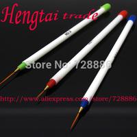 Wholesale  20 sets  3 PCS Thin Acrylic UV Gel French False Nail Tips Art Design Striping Liner Painting Drawing Pen Brush Tools