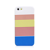 High Quality Colorful Horizontal Stripe Hard Back Case Cover for iPhone 5