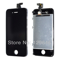 For iPhone 4G LCD Display+Touch Screen digitizer+Frame assembly Replace part Black free shipping
