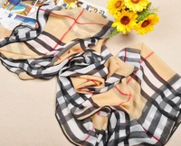fashion scarf 2014   big  plaid  package edge  silk scarf woman , Letter patterns chiffon shawl  square scarf  140*100cm  FX-132