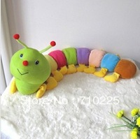 Freeshipping wholesale NEW Lovely  Inchworm Plush Soft Toys Educational Baby Toys for Baby Drop Shipping 1Pcs/Lot  Pt3063 T