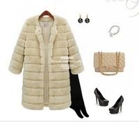 New 2013 Fur coat medium-long rabbit fur outerwear fur overcoat fur overcoat The Winter coat The jacket