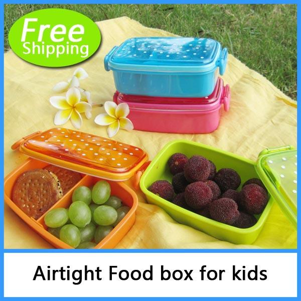 polka dot style sushi box child baby bento lunch box fruit box single tier mi. Black Bedroom Furniture Sets. Home Design Ideas
