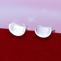Free Shipping!!Wholesale 925 Silver Earring 925 Silver Fashion Jewelry Small Bean Earrings SMTE059