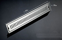 60cm x10cm Large-traffic stainless steel bathroom shower long floor waste sanitary wares floor linear drain ck023