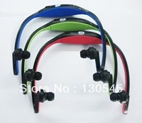 New Sports MP3 WMA Music Player Wireless Headset Micro SD TF Card+FM radio function music player