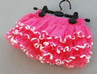 Christmas gift Baby Girls Kids Children Summer hot pink petti skirt, 5pcs/lot, C-G-XQ