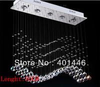 80cm LED Wave Crystal Pendant Light Rain Drop Chandelier Ceiling Lamp Lighting DD036-80