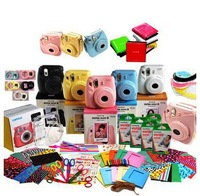Fuji Polaroid camera Combo mini8 an imaging camera pink white black yellow blue