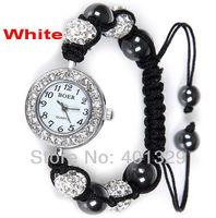 One Piece Free Shipping!  Fashion Women Wristwatch Shamballa Bracelet Watch, Gift Battery