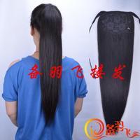 60 long 120 withandfixed straight hair real hair horseshoers rope young girl horseshoers shunfa