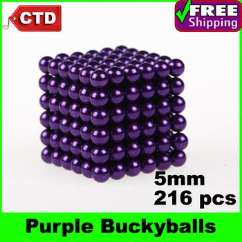 Purple 216pcs Diameter 5mm Neocube Magic Cube Magnetic Balls Buckyballs