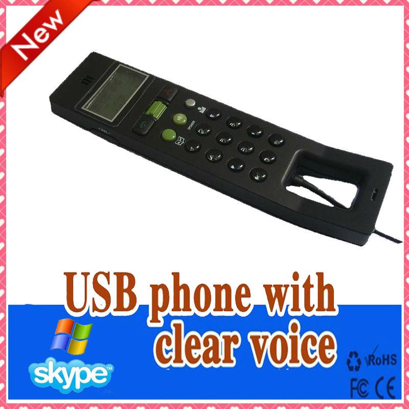 Free shipping Hot USB 2.0 Phone Telephone Internet Handset Skype VOIP Phone(China (Mainland))