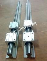 2 Sets SBR20-1200mm 20mm  FULLY SUPPORTED LINEAR RAIL SHAFT & 4pcs SBR20UU Linear bearings