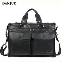 2015 natural leather men briefcase genuine leather bag brand handbags shoulder bags business sac casual bolsas mens travel bags