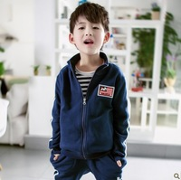 New 2013 autumn Fashion boys  Fasion Sweatshirt clothing sets long-sleeved Korean sportswear suit baby clothing Kids clothes