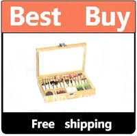 "100 Pc Rotary Tool Accessory Bit Set For Dremel 1/8"" NR Free shipping"