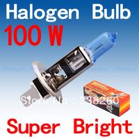 H1 Super Bright White Fog Halogen Bulb Hight Power 100W Car Headlight Lamp Parking Car Light Source parking