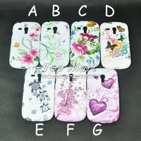 For Samsung Galaxy S3 Mini i8190 tortoise zebra stripe flower world butterfly heart soft TPU case back skin,1pcs