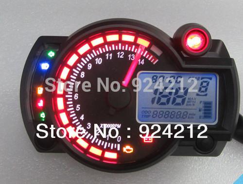 New Backlight LCD Digital Motorcycle Speedometer Odometer Motor Bike Tachometer Koso Similar(China (Mainland))