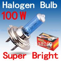 H7 Super Bright White Fog Halogen Bulb Hight Power 100W Car Headlight Lamp Parking Car Light Source parking