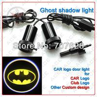Free Shipping! 4th Generation 12V3W Car Logo Led Door Lights For Batman Laser light