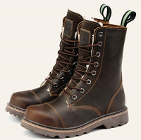 Men's Fashion vintage high martin boots male outdoor tooling boots female hiking cowhide boots S0726