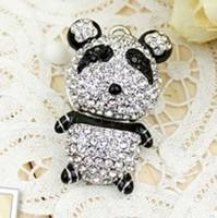 Jewelry flash driver customized cartoon flash drive Free shipping metal panda u disk 4g 8g 16g 32g  robot u disk