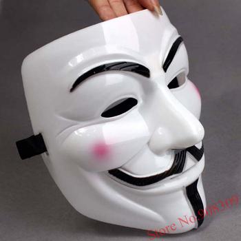 Free shipping! 5pcs/Lot  V Mask vendetta team guy fawkes masquerade masks Halloween Mask Costume ,Halloween Carnival Props