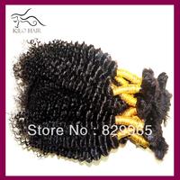 Wholesale 34pcs lot 1B Natural Deep Curly Brazilian Braiding Hair Bulk without weft Free Shipping