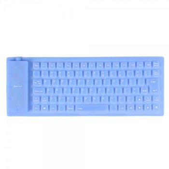 Free Shipping 1pcs Brand New 85 Keys USB 2.0 Flexible Silicon Waterproof Duskproof Keyboard for Laptop Desktop PC High Quality