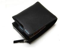 2014 New 100% Genuine leather men wallet Hot fashion designer Gift for man purse cowskin Zipper Coin Wallet wholesale SFW004