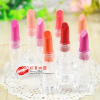 Bony girls small lipstick dull purple orange pink small-sample nude color baby girls
