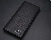 2014 Wallet male female wallet fashion design long wallet genuine leather/wholesale man wallets/man purse