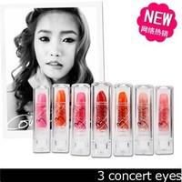 3concept eyes 3 moisturizing lipstick mini small-sample lip gloss lipstick pearlizing