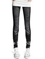 free shipping NEW Women's pants pencil skinny pants legging faux denim jeans