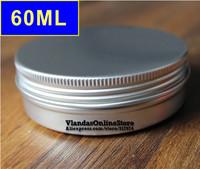 50Pcs/Lot 60ML D68m*H28mm Silver Color Aluminum Cosmetic Box Cream Jar With Screw Cap Wholesale