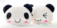 Short plush hold pillow,hold pillow for warming hands, plush toy as gift, Christmas gift, modelling of panda