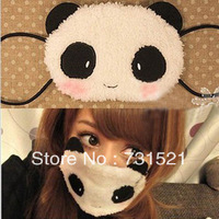 Plush masks, modelling of cute panda, keeping warm &protective facial mask