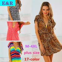 17-Color Solid Ice Silk Beach Dress Beach Vacation In Europe And America Dress Free Shipping 2014 New Fashion Retail