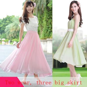 2013 Bohemia summer skirt ladies elegant Chiffon Maxi Dress wear holiday two freeshopping