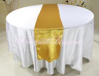 20PCS Gold Satin Table Runne